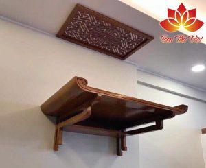 Hướng dẫn chọn kích thước bàn thờ treo tường hợp phong thủy
