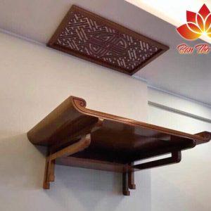 Mẫu bàn thờ treo tường đơn giản, hiện đại