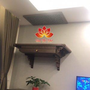 Mẫu bàn thờ treo tường thông minh đẹp thiết kế sang trọng