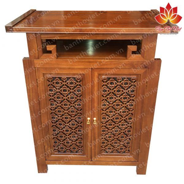 Tủ thờ gỗ quý được làm bằng gỗ hương