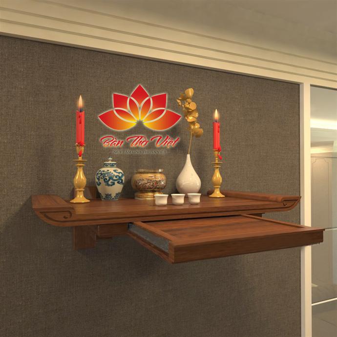 Mẫu bàn thờ treo tường có ngăn kéo đẹp