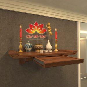 Vị trí đặt bàn thờ treo tường phong thủy tốt nhất cho gia chủ