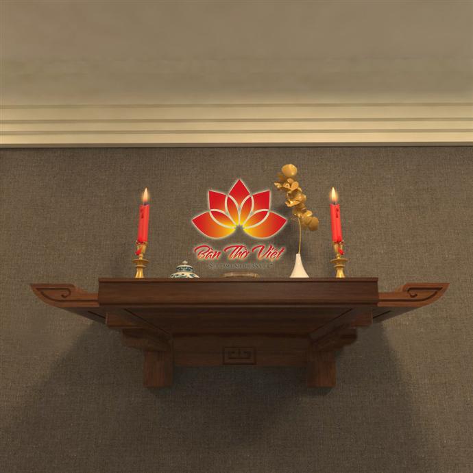 Mẫu bàn thờ treo theo phong thủy được nhiều gia đình lựa chọn