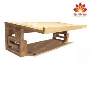 Mẫu bàn thờ treo tường có ngăn kéo từ gỗ tự nhiên