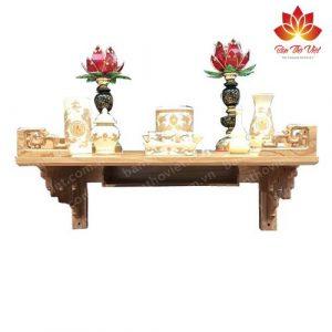 Mẫu bàn thờ treo tường làm bằng gỗ hương