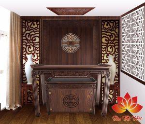 Những chiếc tủ thờ nhỏ gọn dành cho chung cư vô cùng sang trọng
