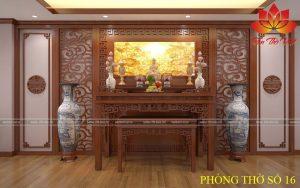 Sập thờ gỗ mít cho không gian gia đình Việt