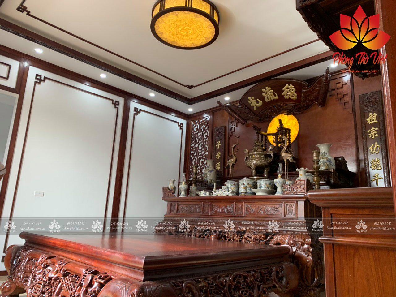 Sập thờ gỗ hương nét đẹp truyền thống ngàn đời