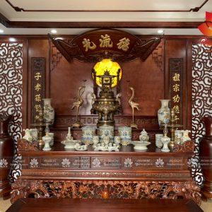 Mẫu phòng thờ tân cổ điển mang đậm phong cách Á Đông