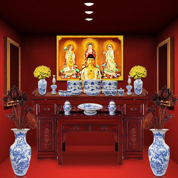 Một số lưu ý khi đặt bàn thờ Phật tại gia