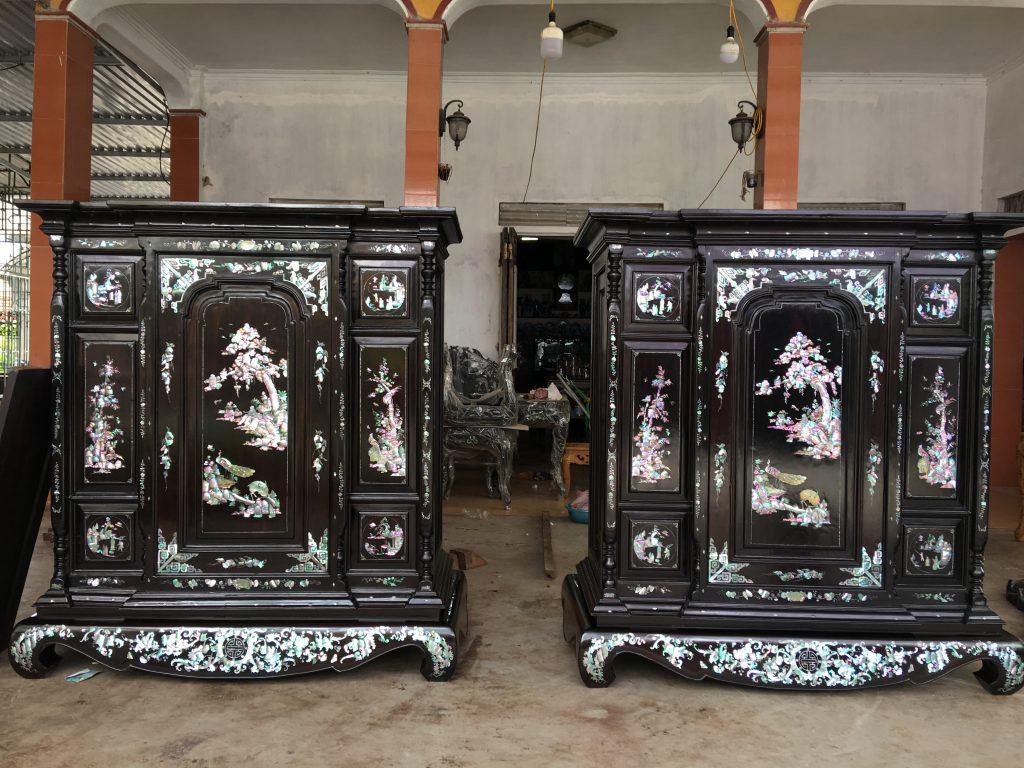 Mẫu tủ thờ cổ xưa đẹp được thiết kế độc đáo
