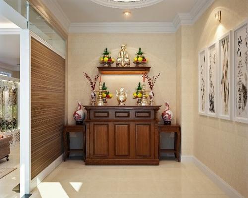 Những mẫu bàn thờ âm tường HOT cho không gian thờ cùng hiện đại