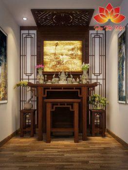 Sử dụng bàn thờ kiểu Nhật cho không phòng thờ tối giản