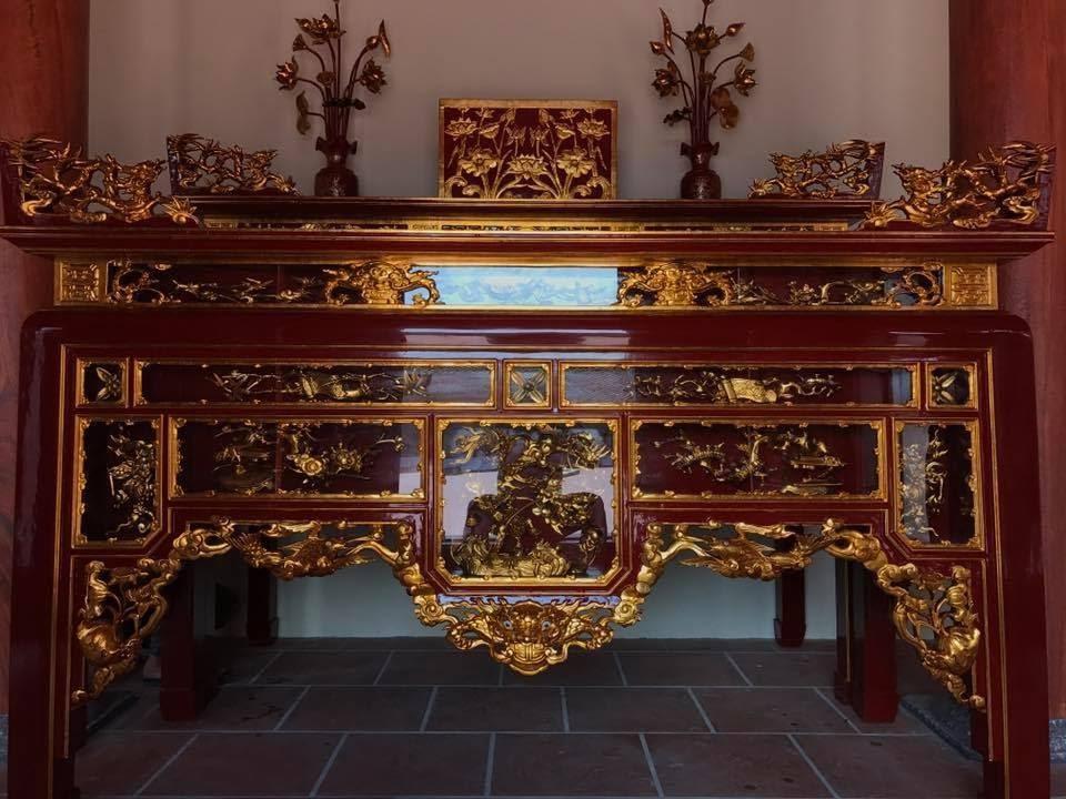 Các mẫu tủ thờ sơn son thếp vàng Đẹp - Chất lượng nhất 2020