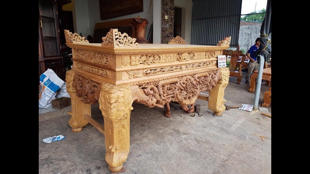 Các mẫu bàn thờ kiểu cổ đậm nét văn hóa người Việt