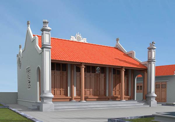 Các mẫu nhà thờ họ 3 gian đẹp được nhiều dòng họ lựa chọn