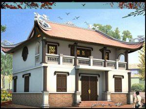 Các mẫu nhà thờ họ 2 tầng đẹp được nhiều dòng họ chọn