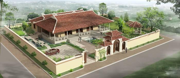 Mẫu thiết kế nhà thờ họ tổ truyền thống đẹp mẫu 3