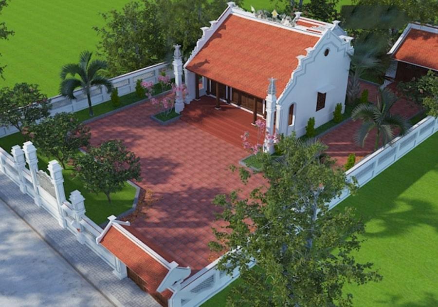 Mẫu nhà thờ tổ đẹp, nhà từ đường, nhà thờ họ cổ kính