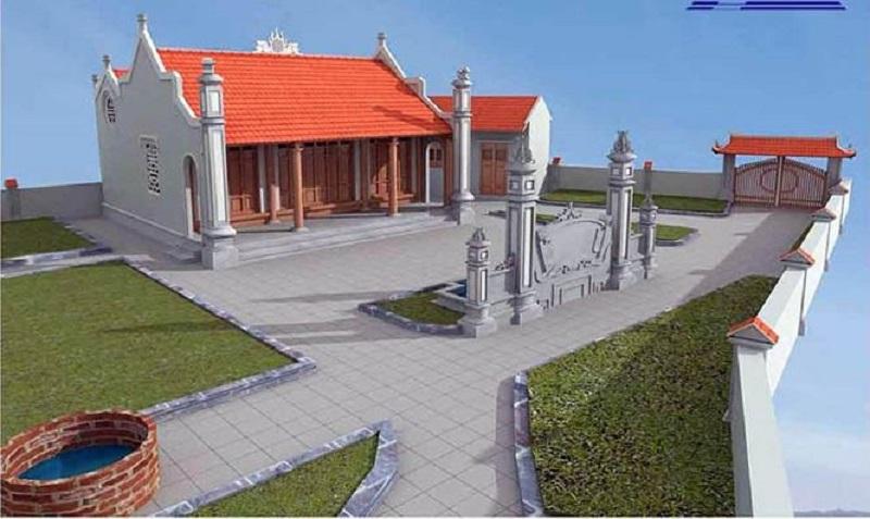 Mẫu thiết kế nhà thờ họ tổ truyền thống đẹp mẫu 1