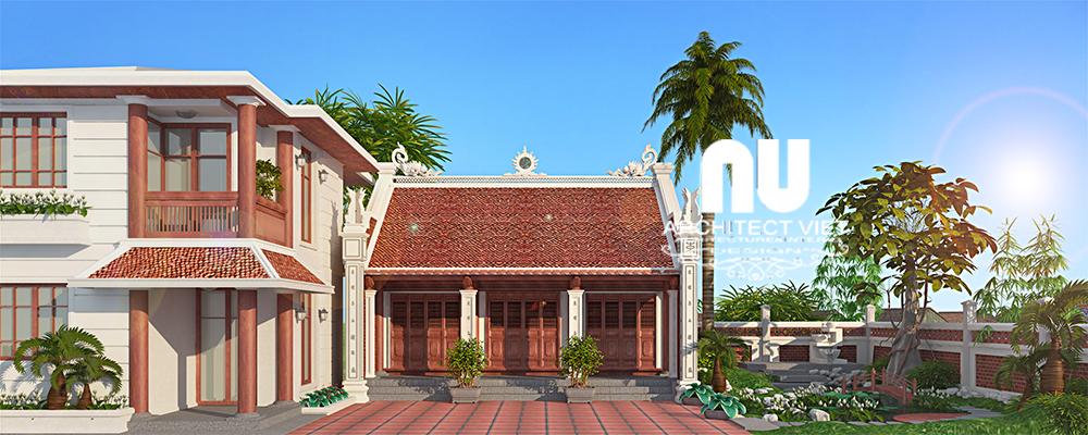 Các mẫu thiết kế nhà thờ kết hợp với nhà ở đẹp chuẩn phong thủy