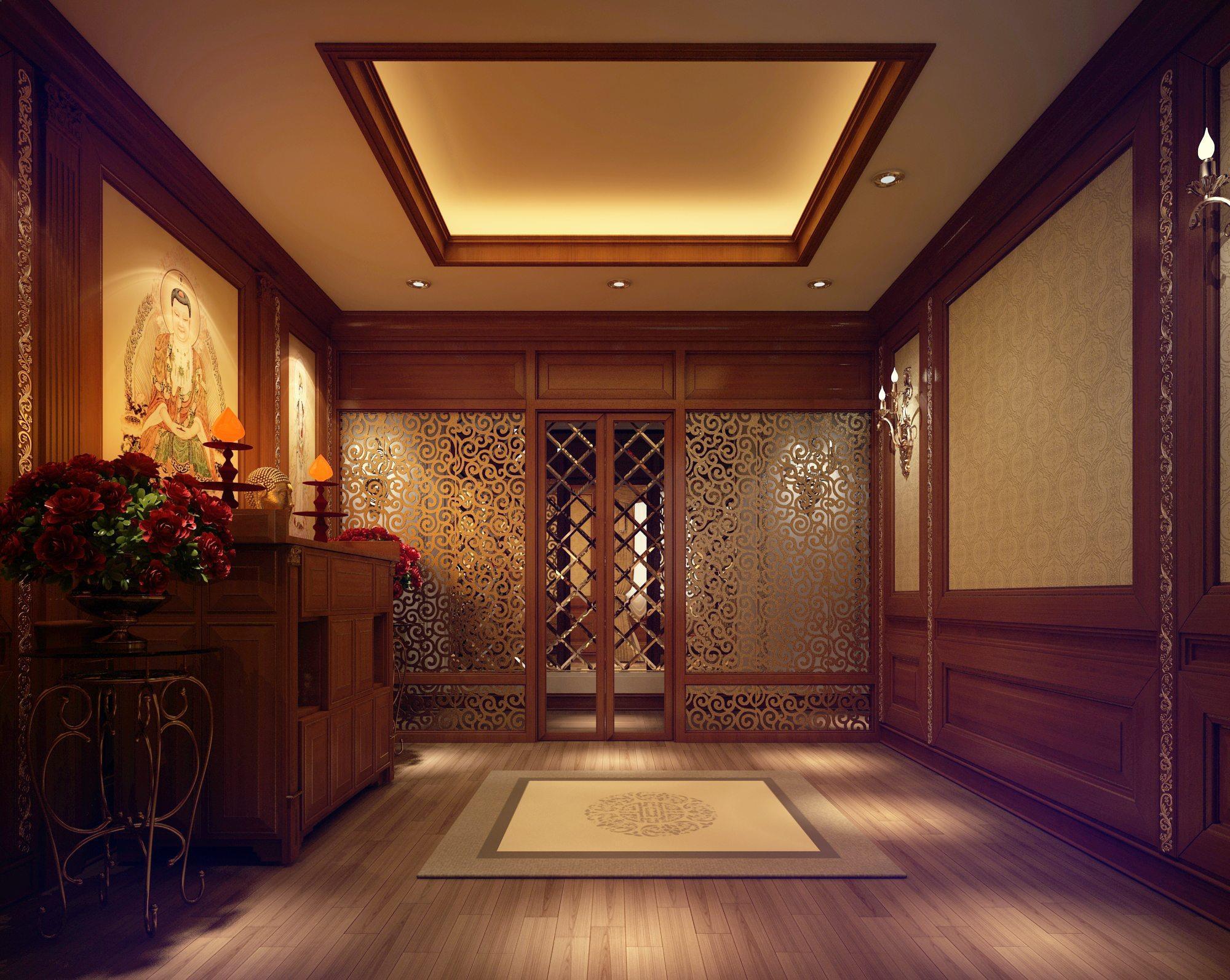 Mẫu thiết kế phòng thờ sang trọng CHUẨN phong thủy